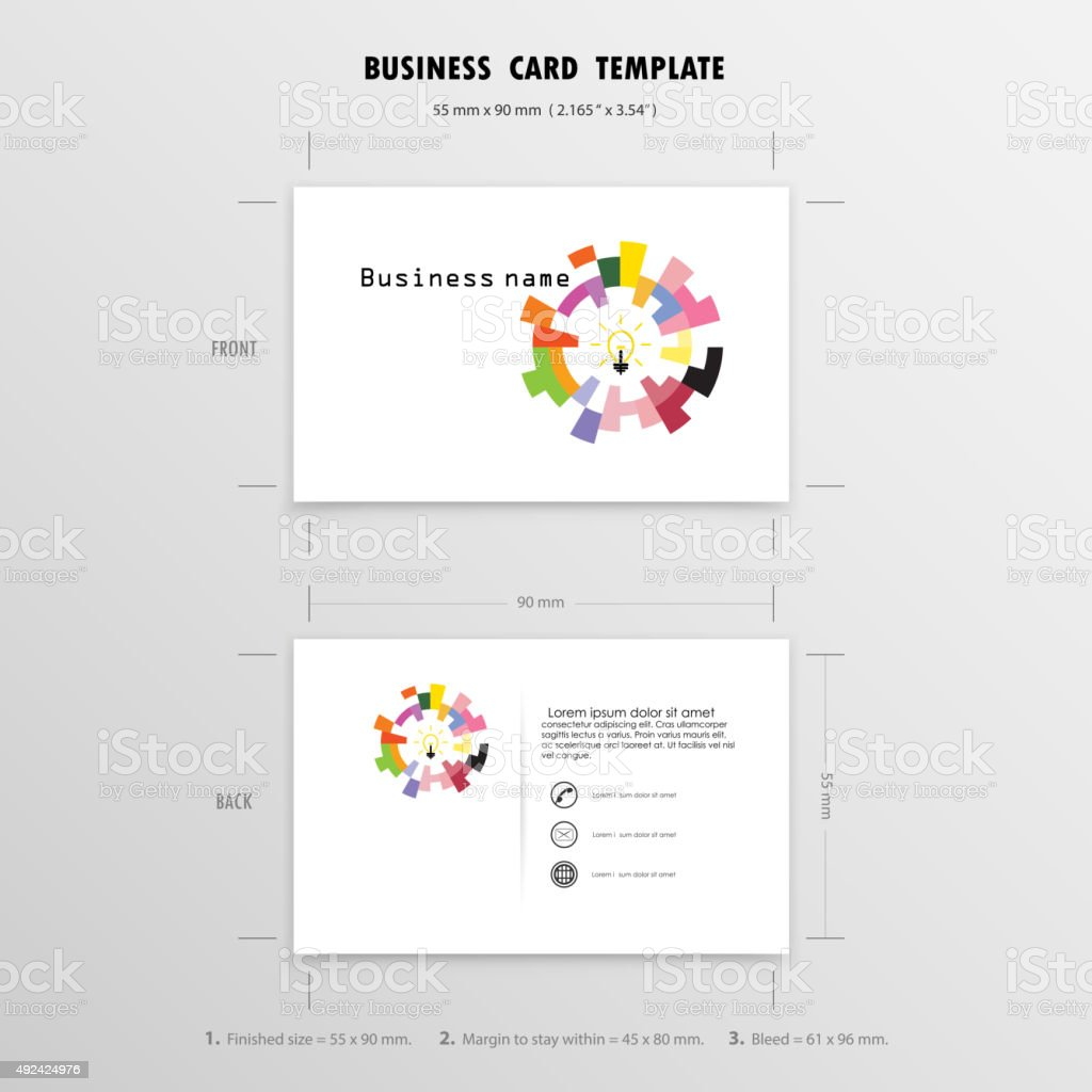 Creative business cards design templatesize 55 mm x 90 mm stock creative business cards design templateze 55 mm x 90 mm royalty free creative reheart Choice Image