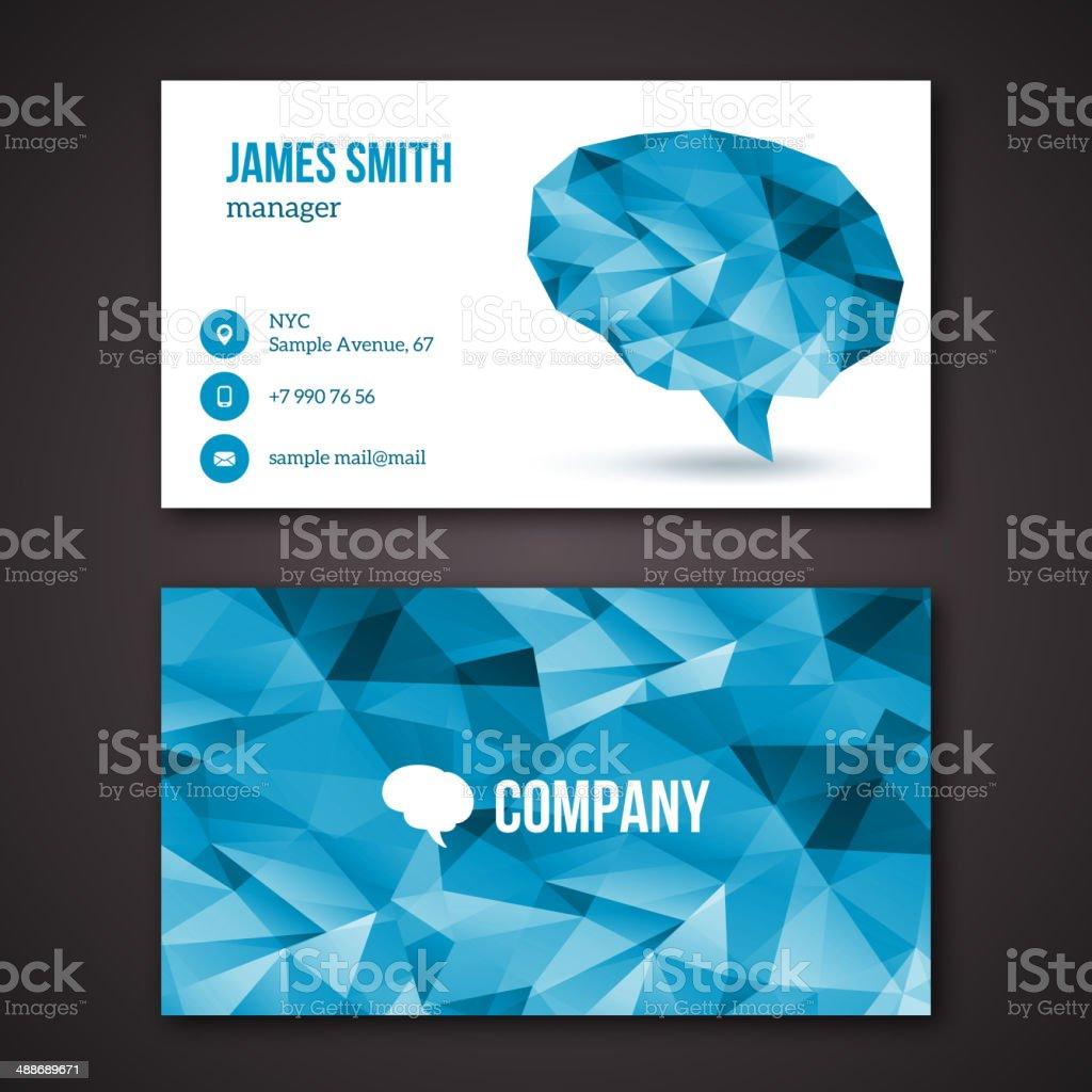 Creative business cards. vector art illustration