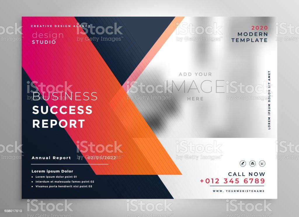 creative business flyer design template vector art illustration