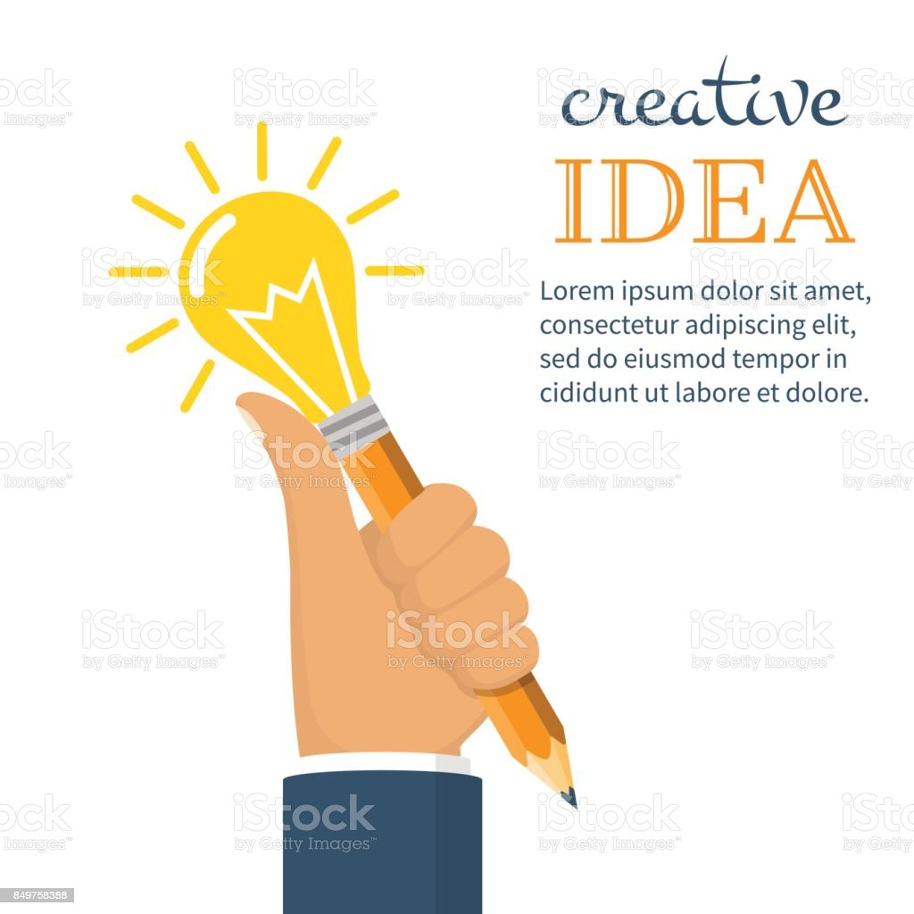 Creative business ideas concept. vector art illustration