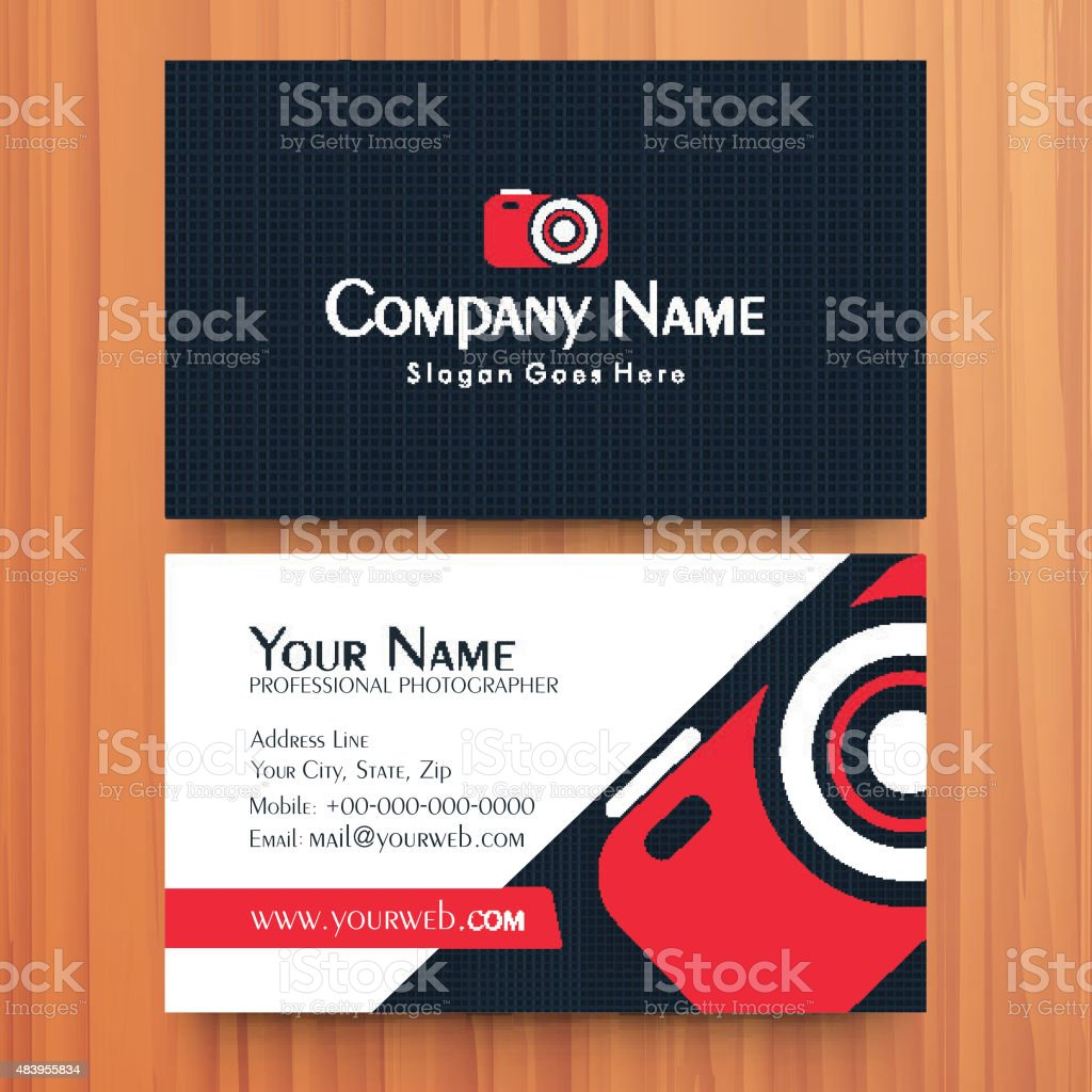 Creative Business Or Visiting Card Design Stock Vector Art & More ...