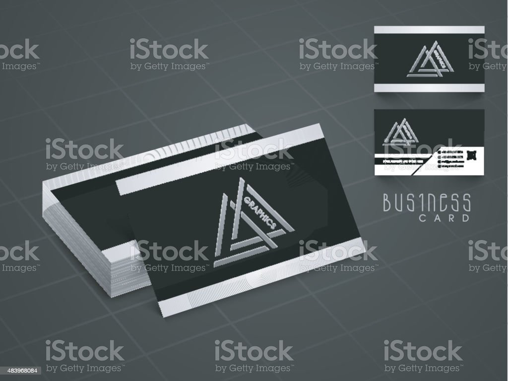 Creative Business Or Visiting Card Design stock vector art ...