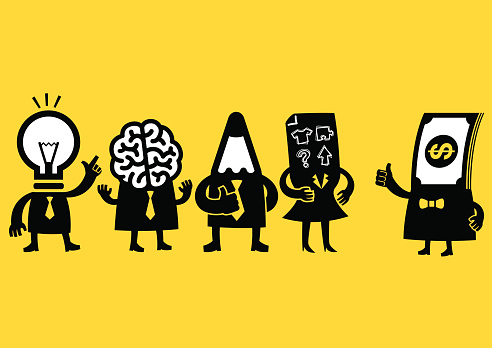 Creative Business Team & Investor | Yellow Business clipart