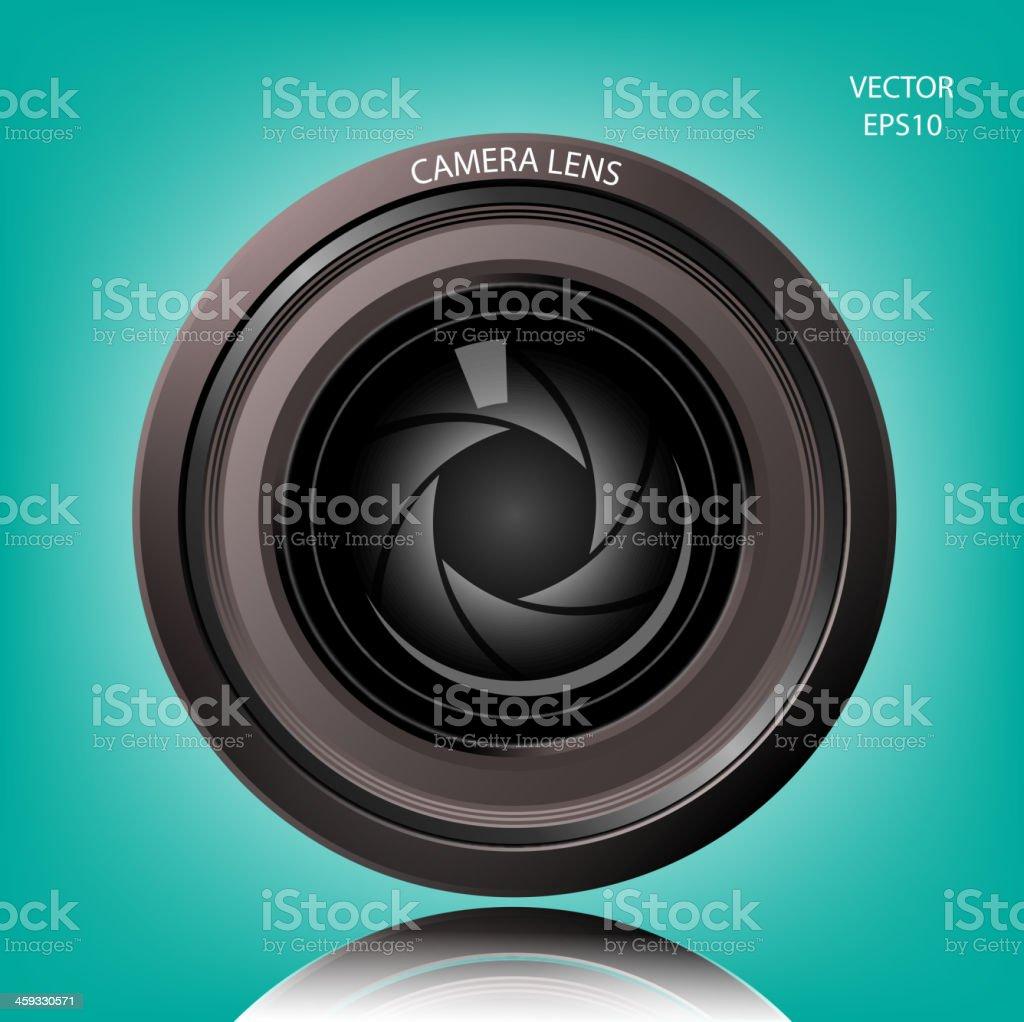 Creative camera lens sign royalty-free stock vector art