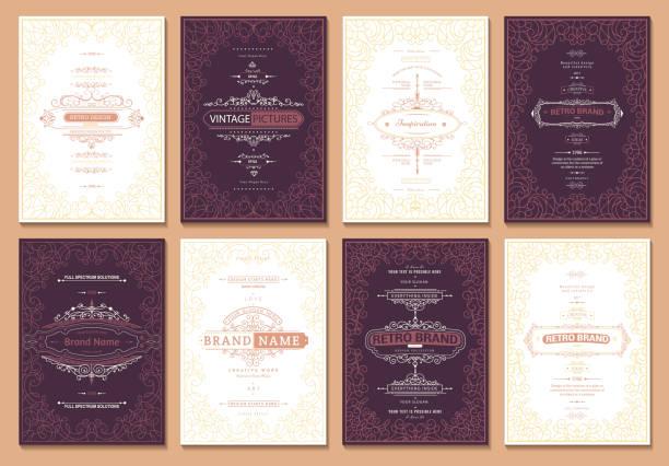 kreative kartenvorlage - swag stock-grafiken, -clipart, -cartoons und -symbole