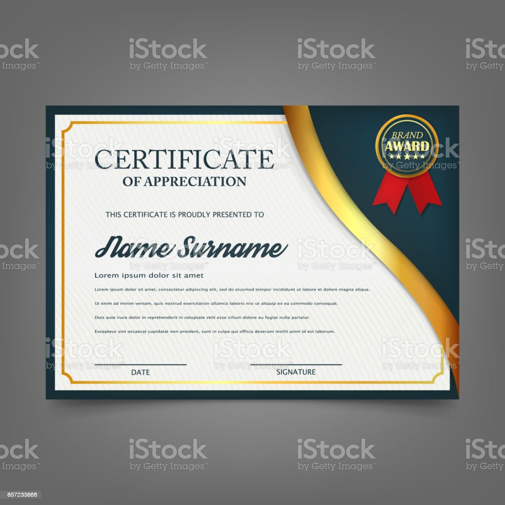 Creative certificate of appreciation award template certificate creative certificate of appreciation award template certificate template design with best award symbol and blue yelopaper Image collections