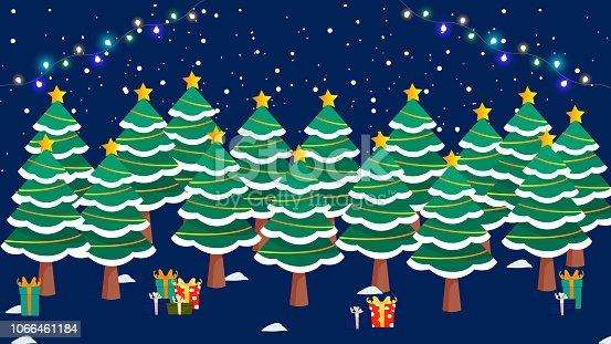 istock Creative Christmas Background vector illustration 1066461184