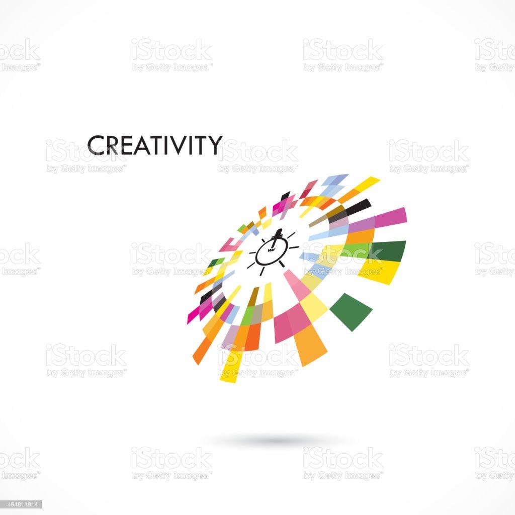 Creative Circle Abstract Vector Logo Design Template Stock