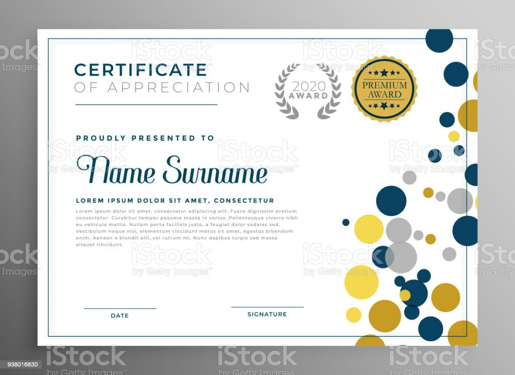 creative circles certificate template design stock vector art more