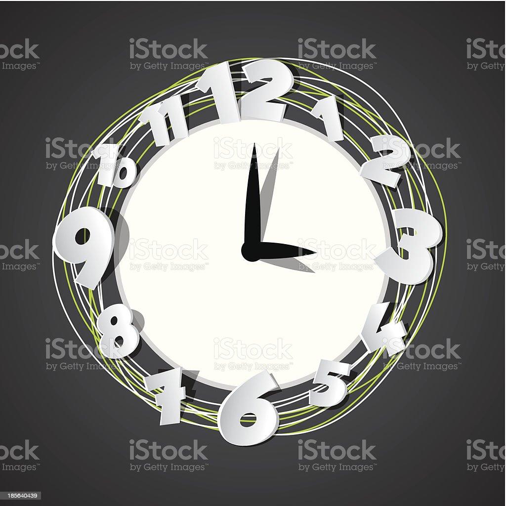 Creative Clock royalty-free stock vector art