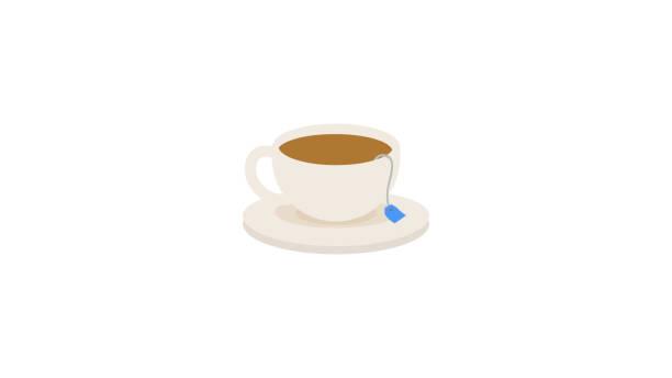 stockillustraties, clipart, cartoons en iconen met creatieve koffie/thee beker ontwerp pictogram - theekop