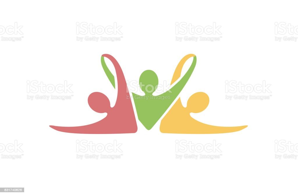 Creative Colorful Abstract People Symbol Design royalty-free creative colorful abstract people symbol design stock illustration - download image now