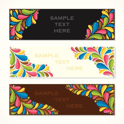 creative colorful banner or leaf let design