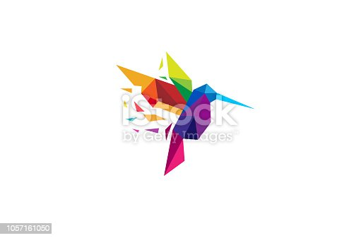 Creative Colorful Humming Bird Logo Symbol Vector Design Illustration