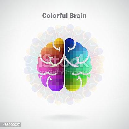 585087100istockphoto Creative colorful left and right brain Idea concept 486900027