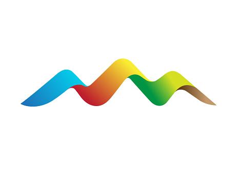 Creative Colorful Mountain Logo Vector
