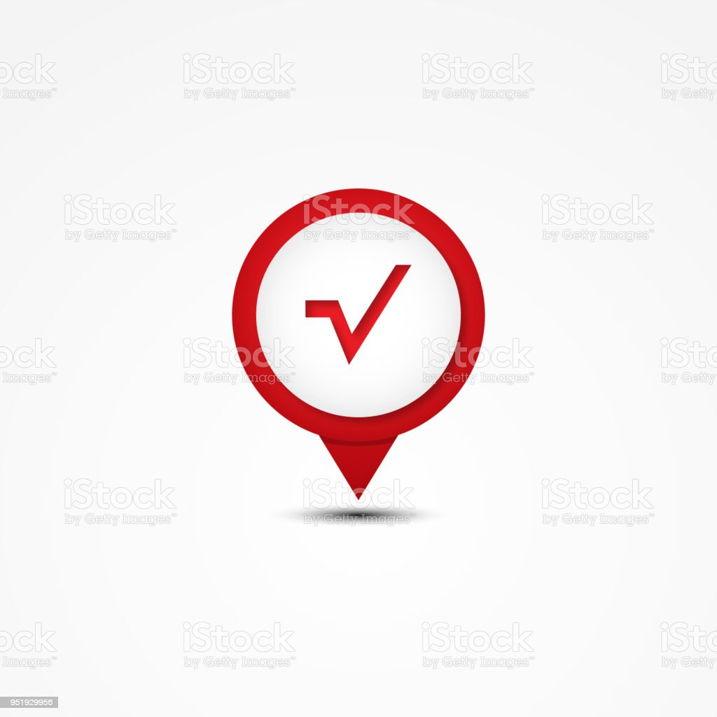 Creative Combination Square Root Mathematics Symbol And Map Pointer