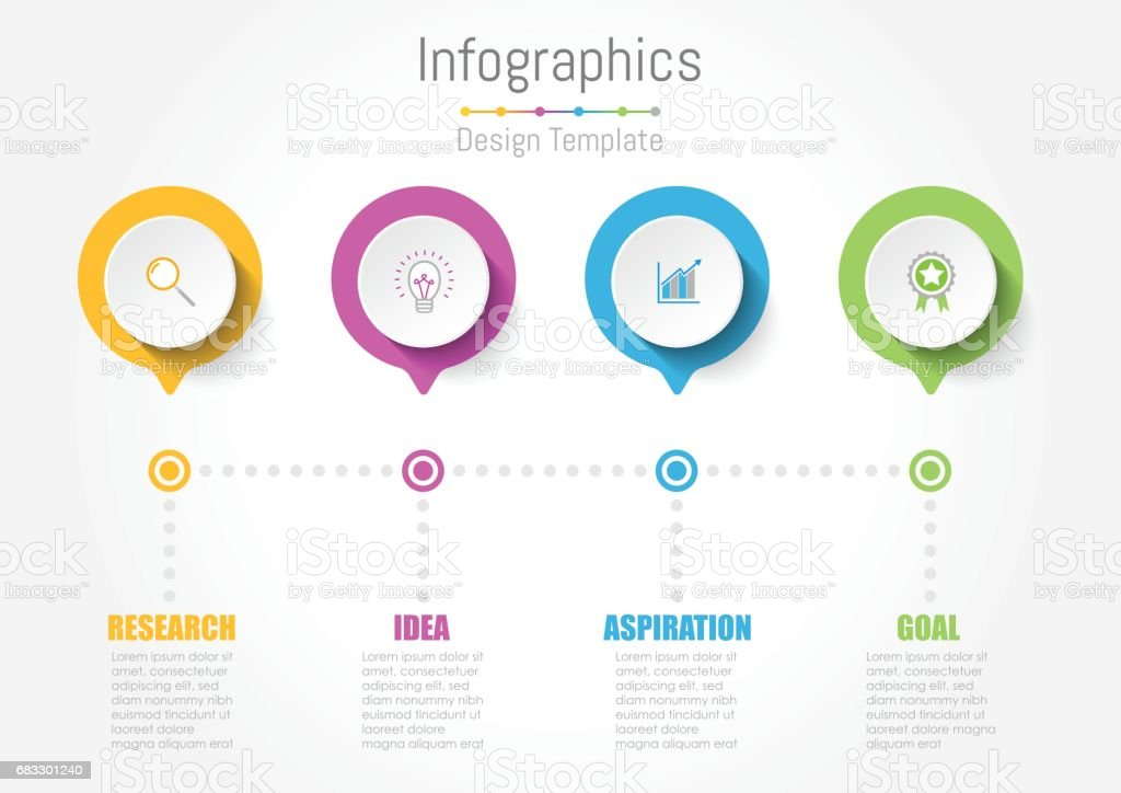 Creative concept business data for infographic vector art illustration