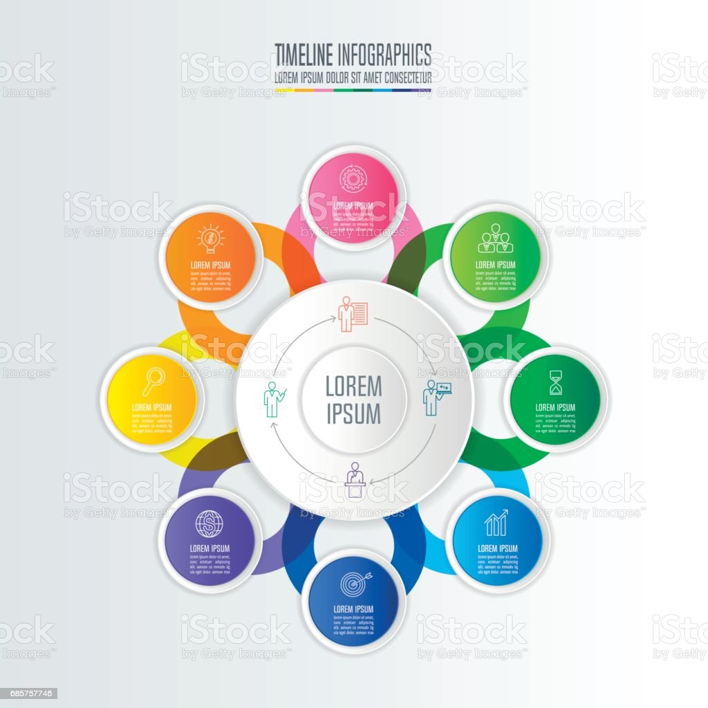 Kreativa koncept för infographic. Tidslinjen infographic design vektor och marknadsföring ikoner för presentation, arbetsflöde layout, diagram, årsredovisning, webbdesign. Affärsidén med 8 alternativ. royaltyfri kreativa koncept för infographic tidslinjen infographic design vektor och marknadsföring ikoner för presentation arbetsflöde layout diagram årsredovisning webbdesign affärsidén med 8 alternativ-vektorgrafik och fler bilder på abstrakt