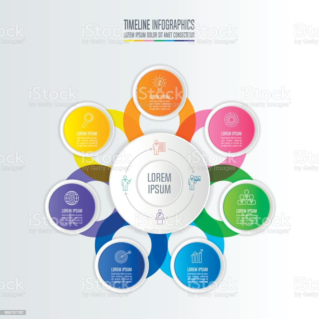 Creative concept for infographic. Timeline infographic design vector and marketing icons for presentation, workflow layout, diagram, annual report, web design. Business concept with 7 options. creative concept for infographic timeline infographic design vector and marketing icons for presentation workflow layout diagram annual report web design business concept with 7 options - immagini vettoriali stock e altre immagini di affari royalty-free