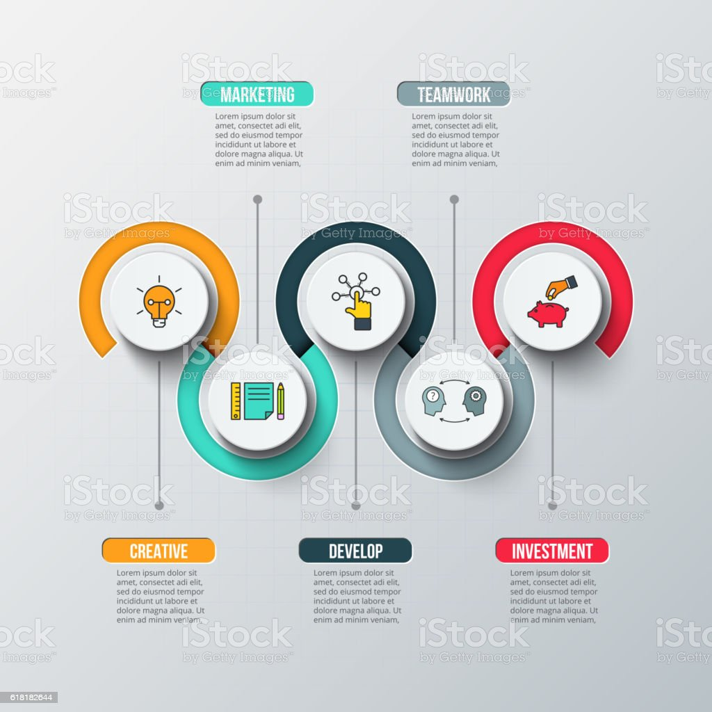 Creative concept for infographic. vector art illustration