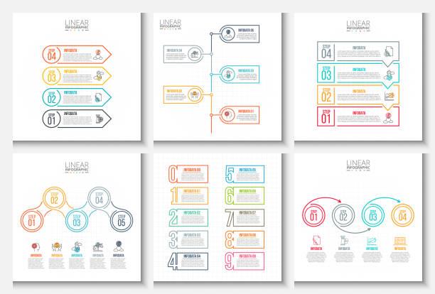 creative concept for infographic. - flowchart infografiken stock-grafiken, -clipart, -cartoons und -symbole