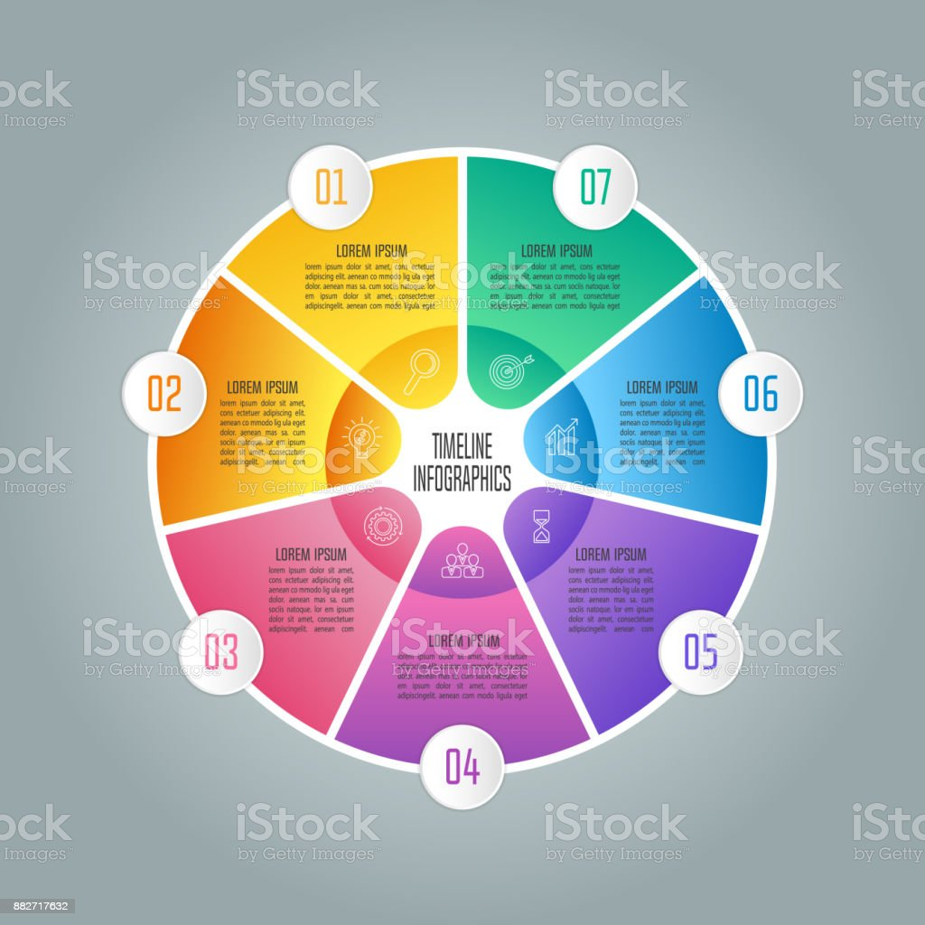 Creative Concept For Infographic With 7 Options Parts Or Processes ...