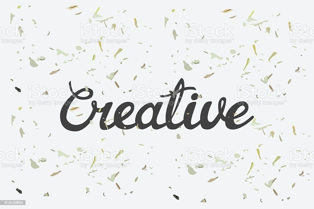 Creative Concept Hand Lettering Calligraphy With Grunge Texture Royalty Free