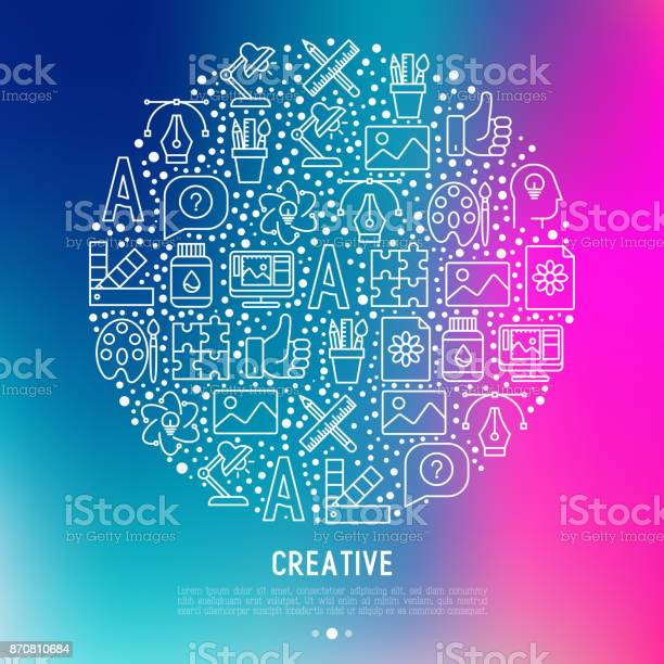Creative concept in circle with thin line icons of idea puzzle color vector id870810684?b=1&k=6&m=870810684&s=612x612&h=khmhmoccjjqxfrsnqdfvsvdieo81aluv3w5dvbuockg=