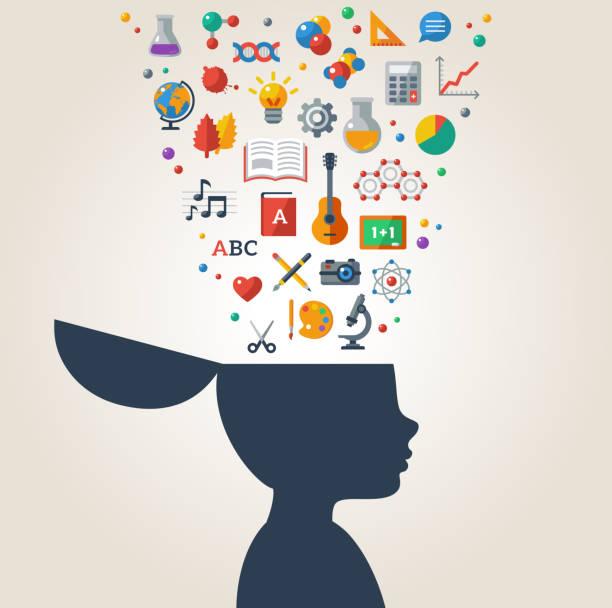 ilustrações, clipart, desenhos animados e ícones de conceito criativo de educação. - aula de ciências