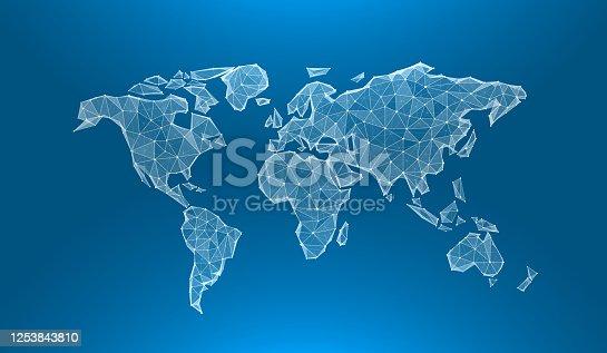 istock Creative concept of the globe map world. 1253843810