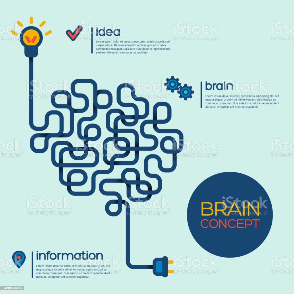 Creative concept of the human brain. vector art illustration