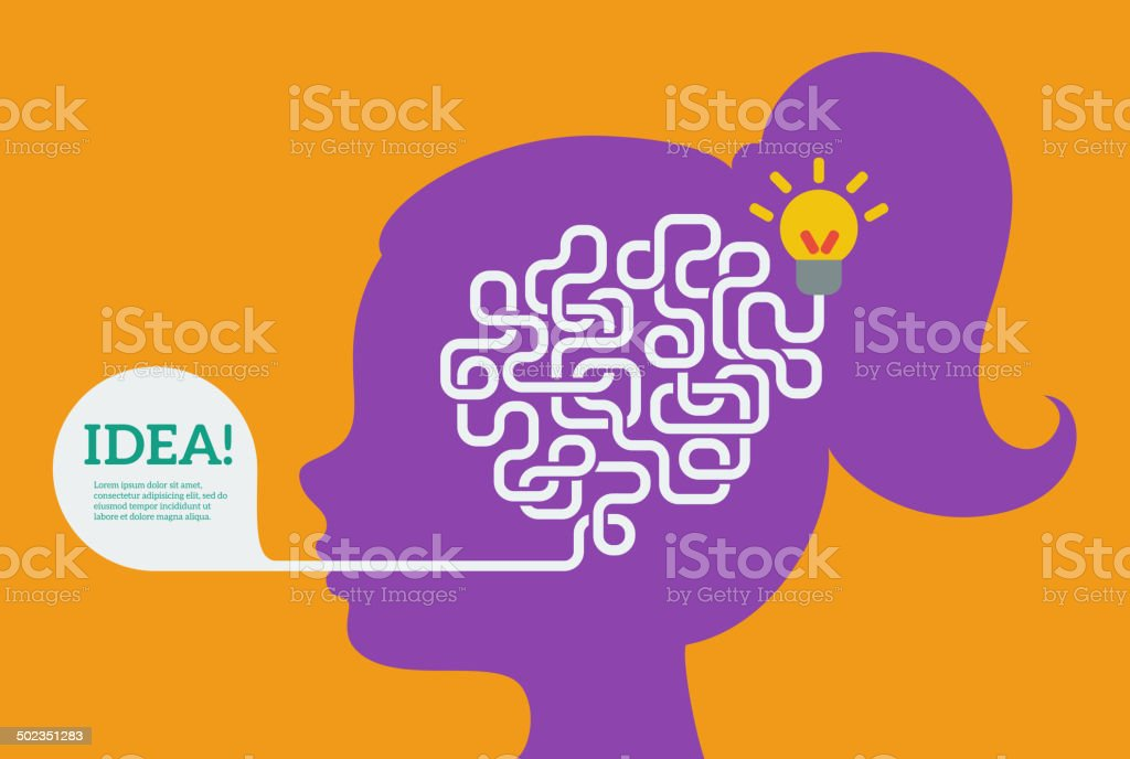 Creative concept of the human brain, vector illustration. vector art illustration