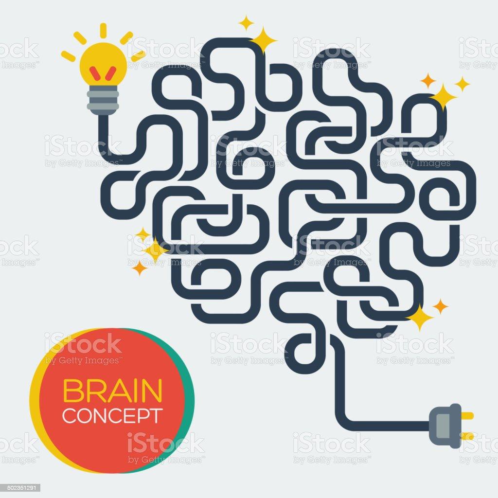 Creative concept of the human brain, vector illustration. vector art illustration