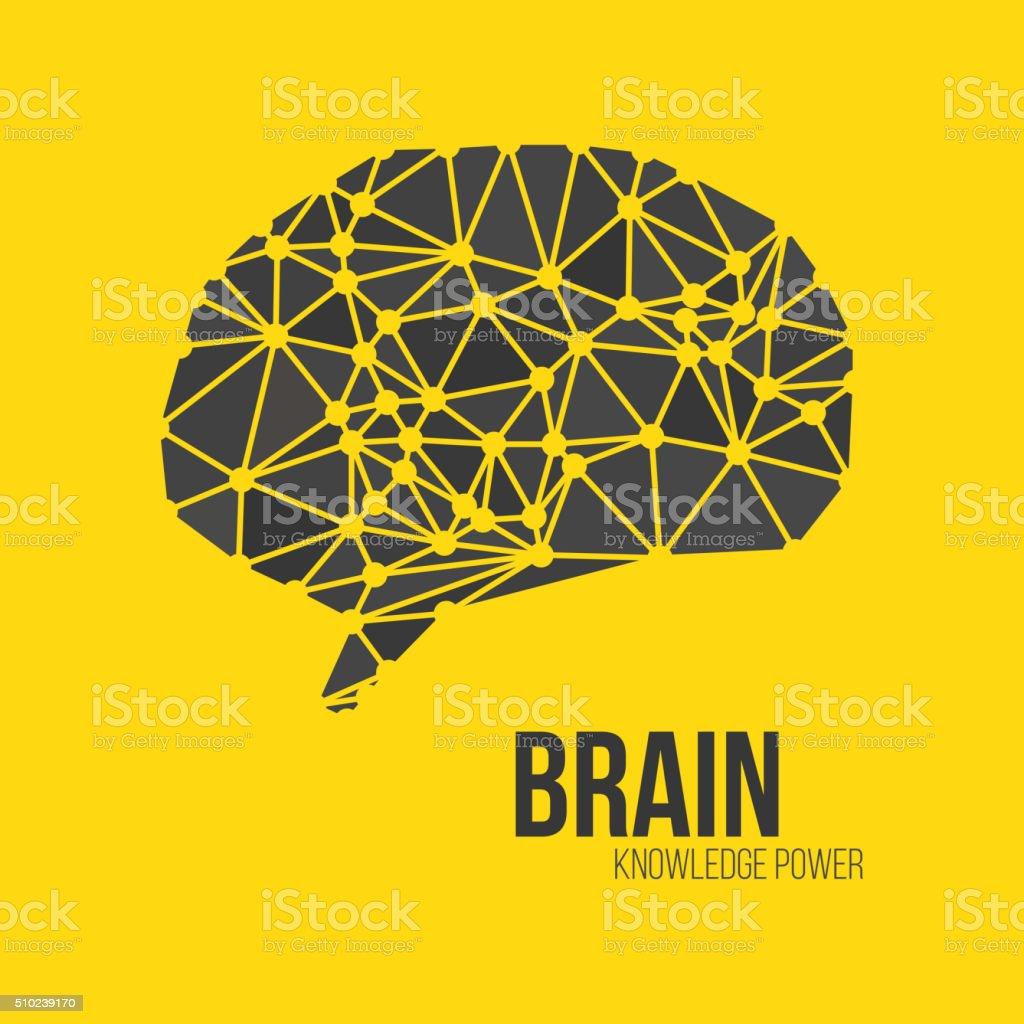 Creative concept of the human brain, vector vector art illustration