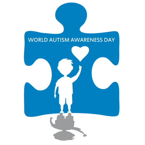 Creative concept vector illustration for World Autism awareness day. Can be used for banners, backgrounds, badge, icon, medical posters, brochures. Vector, isolated vector art illustration