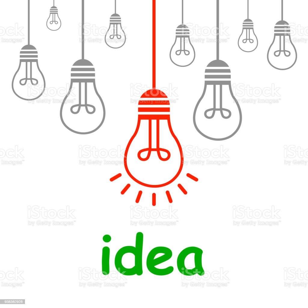 Creative Creation Ideas Bulb New Idea Vector Stock Vector Art & More ...