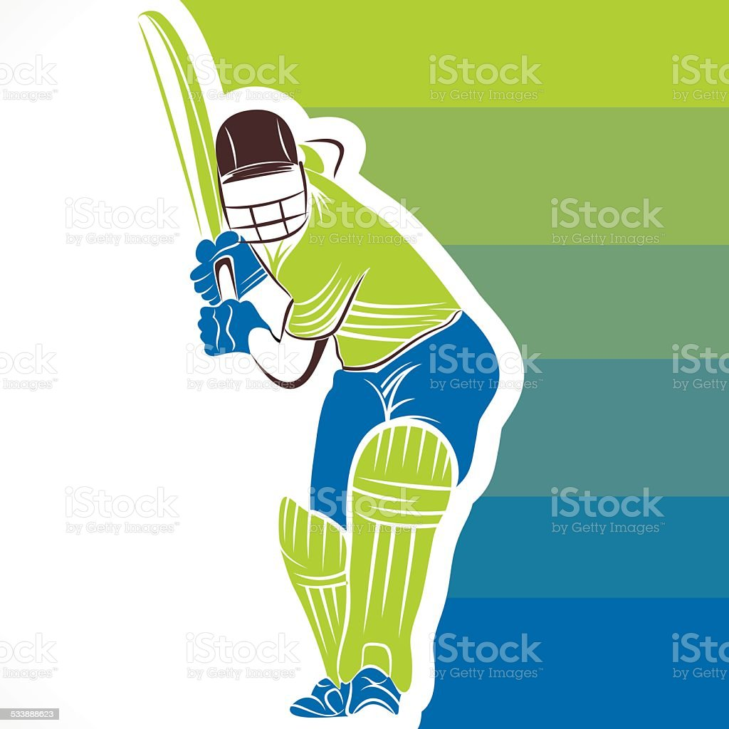 banner design créatif de cricket - Illustration vectorielle