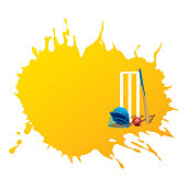 creative cricket promotion poster deign