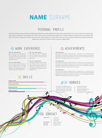 Creative CV / resume template.