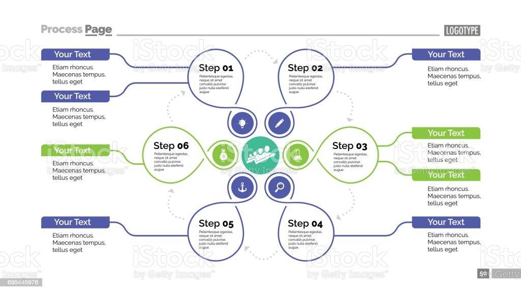 Creative Cycle Diagram Slide Template Stock Vector Art