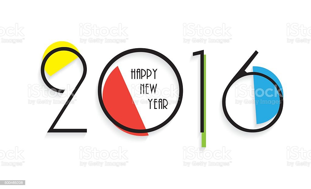 Creative Design Happy New Year Greeting Card Stock Vector Art More