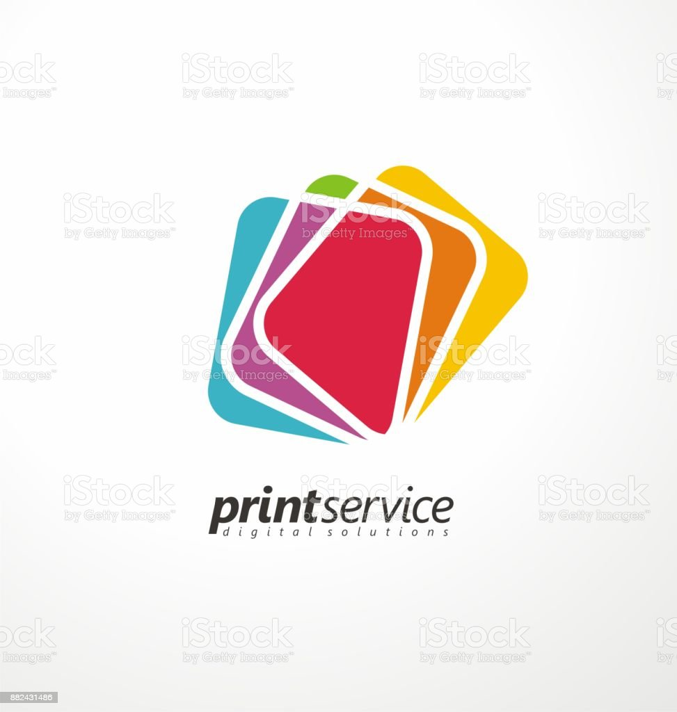 Creative  design idea for printing shop