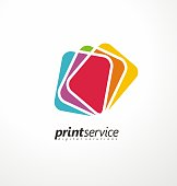 Creative  design idea for printing shop