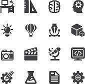 Creative Designer Silhouette icons