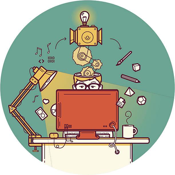 kreatywnych projektantów - projektant stock illustrations