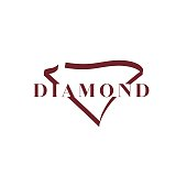 Diamond - Gemstone, Logo, Abstract, Art, Backgrounds