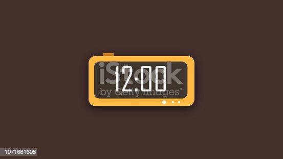 Creative digital clock display icon