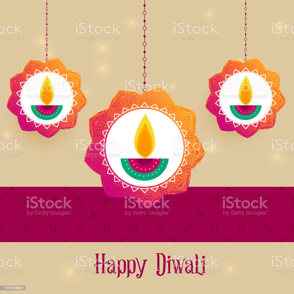 Creative Diwali Festival Greeting Background Stock Vector Art More