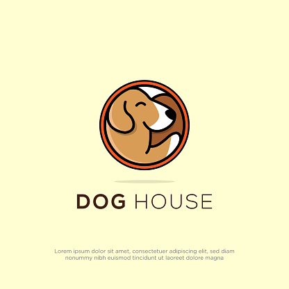 creative dog house pet store logo design can use for your trademark, branding identity or commercial brand